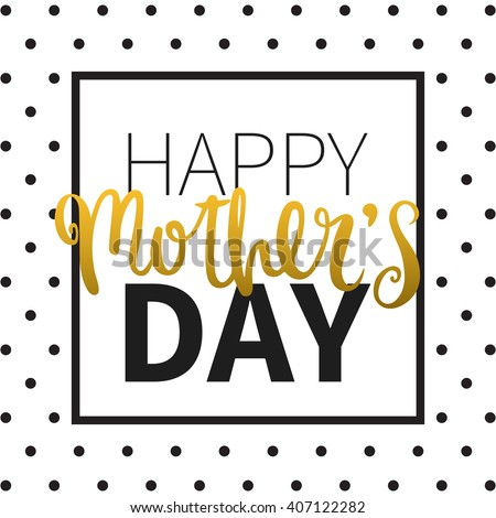 Vector calligraphy. Hand drawn lettering poster. Vintage typography card. Happy mothers day. - stock vector