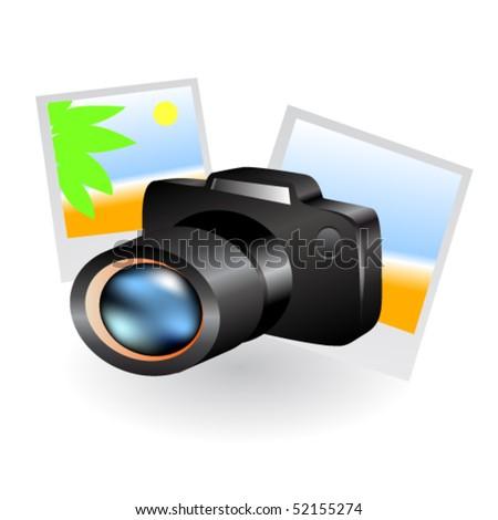 Vector camera - stock vector