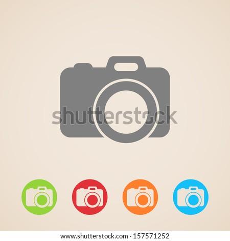 vector camera icon - stock vector
