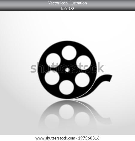 Vector camera web icon in circle, flat design - stock vector