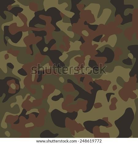 Vector camouflage pattern. Flecktarn. - stock vector
