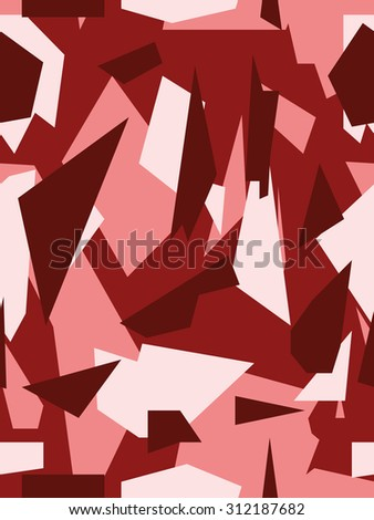 Vector camouflage series - Red - stock vector