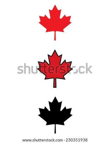 Vector Canadian Maple Leaf Icon Set Stock Vector 230351938 ...