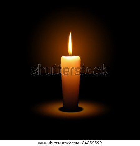 Vector Candle - stock vector