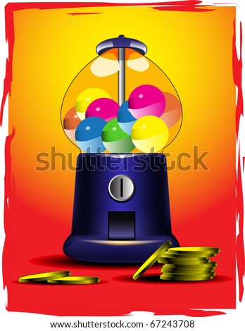 vector candy slot machine - stock vector