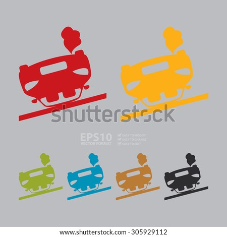 Vector : Car Accident Infographics Flat Icon, Sign  - stock vector