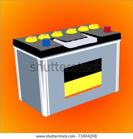 Car Battery Vector Vector Car Battery 12v Stock