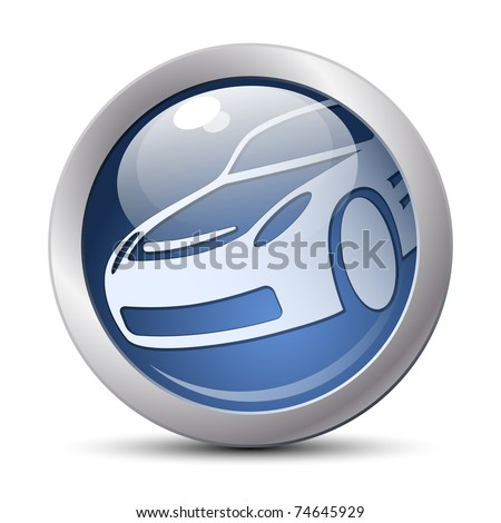 Vector car icon - stock vector