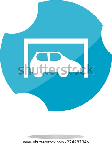 vector Car icon button design elements isolated on white - stock vector