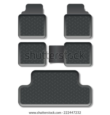 Vector Car Mats - stock vector
