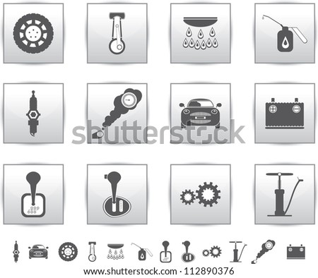 Car Transmission Vector Vector Car Set Icons Auto