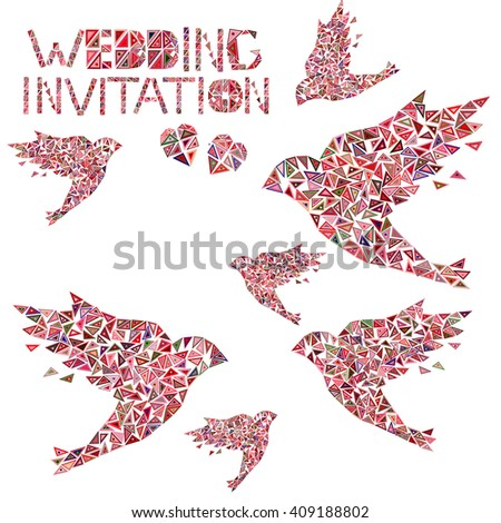 Vector card for the wedding invitation.