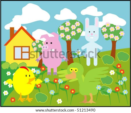 vector card with animals 07
