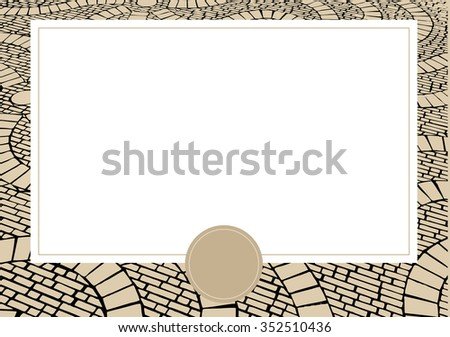 Vector card with Cobblestone background - stock vector