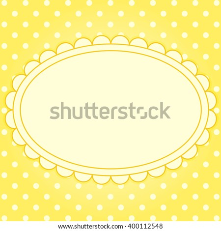 Vector Card Frame Polka Dot Background Stock Vector HD (Royalty Free ...