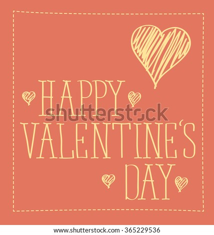 vector card with heart for valentines day - stock vector