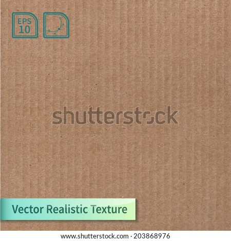 Vector cardboard texture. Phototexture for your design - stock vector
