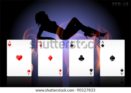 Vector Cards Collection Set - stock vector