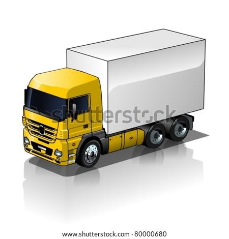Vector cargo truck - stock vector