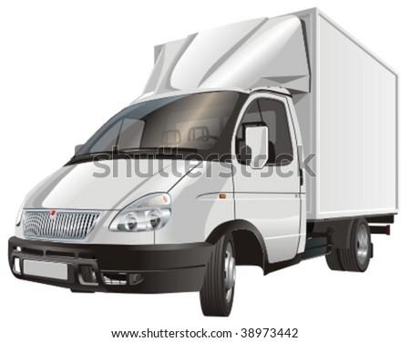 Vector cargo truck. More vector trucks see in my portfolio - stock vector