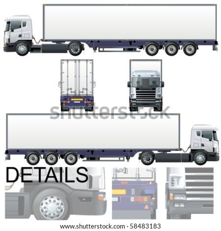 Vector cargo truck - Original design - stock vector