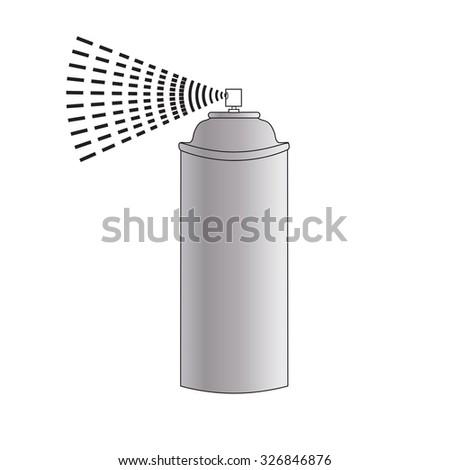 Vector Cartoon Aerosol Spray. spray isolated on white background. Vector illustration - stock vector