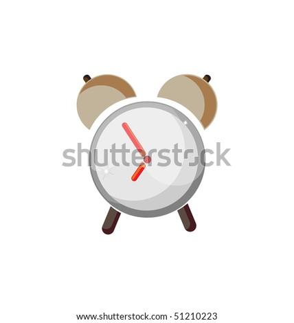 vector  cartoon alarm - stock vector