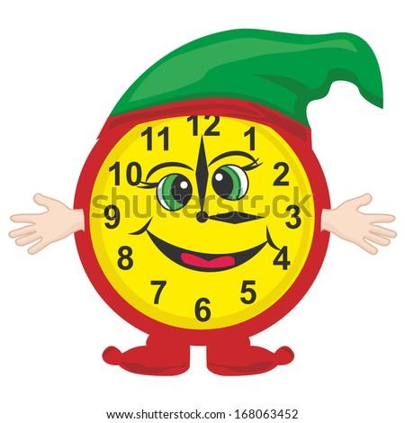 Vector cartoon alarm clock - stock vector