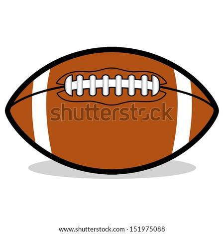 vector cartoon american football ball stock vector royalty free