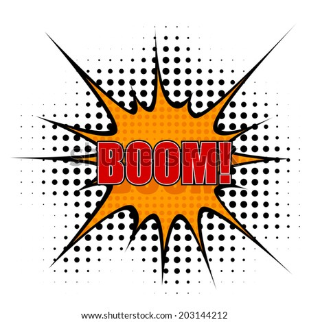 Vector Cartoon  boom - stock vector