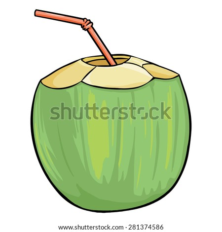 how to drink out of a coconut with a straw