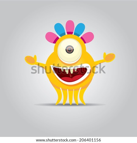 vector Cartoon cute monster