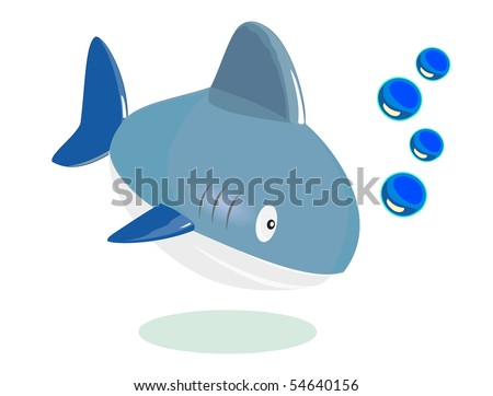 vector cartoon fish