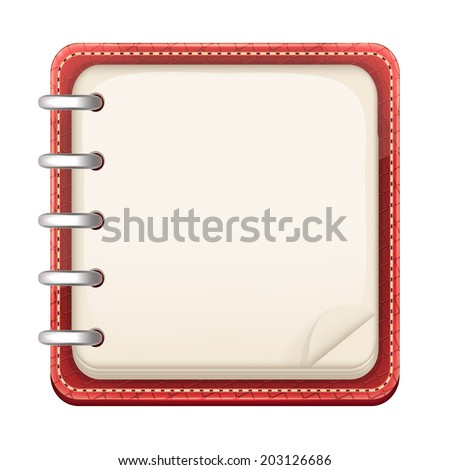 Vector Cartoon Notepad - stock vector