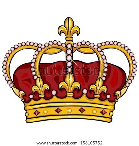 vector cartoon royal crown - stock vector