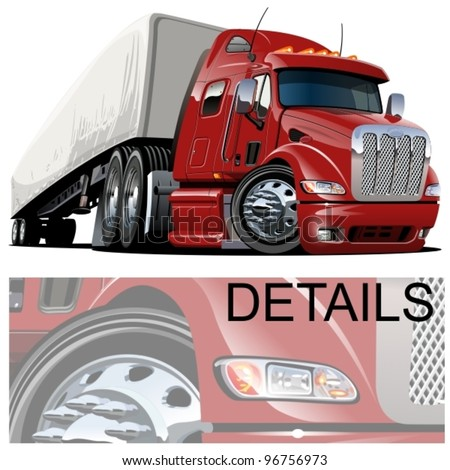 Semi Truck Cartoon Image Vector Cartoon Semi Truck