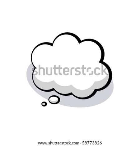 Vector Cartoon Thought Bubble! - stock vector