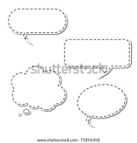 Vector Cartoon Thought Bubble - stock vector