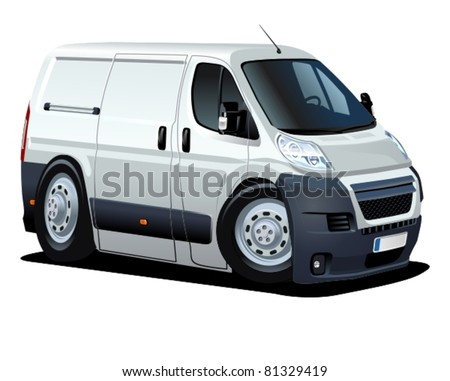 Vector cartoon van - stock vector