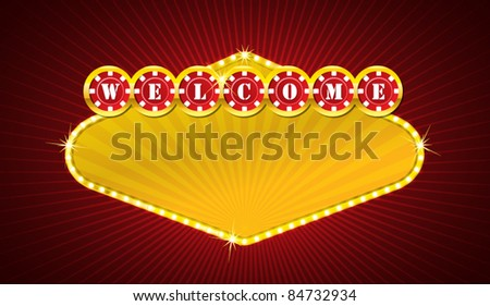Vector casino signage - stock vector
