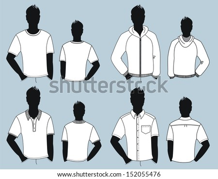 Vector casual clothes for man isolated for design