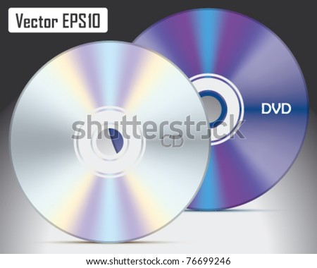 Vector CD and DVD - stock vector