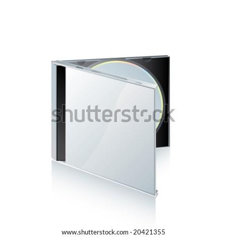 vector CD box - stock vector