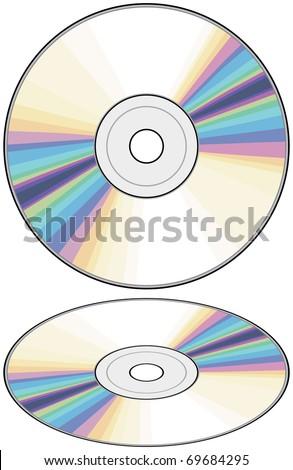 vector CD (Compact disc) - stock vector