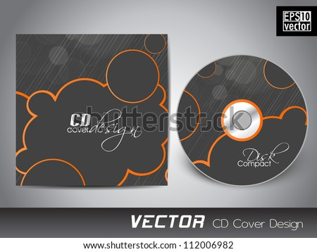 Vector CD cover design with abstract pattern.EPS 10 - stock vector