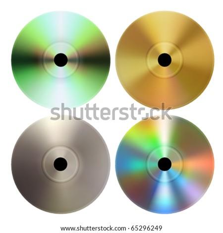 Vector CD DVD discs - stock vector