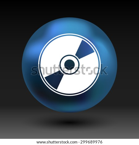 Vector CD or DVD icon disc vector compact disk audio media.