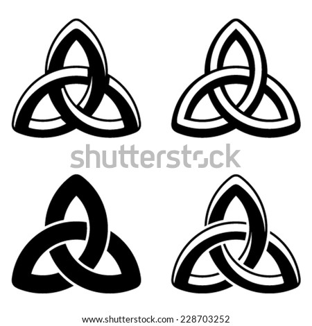 vector Celtic knot black white symbols - stock vector