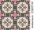 Vector ceramic tiles with seamless pattern 2 - stock photo