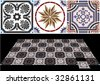 Vector ceramic tiles with seamless pattern 6. - stock photo